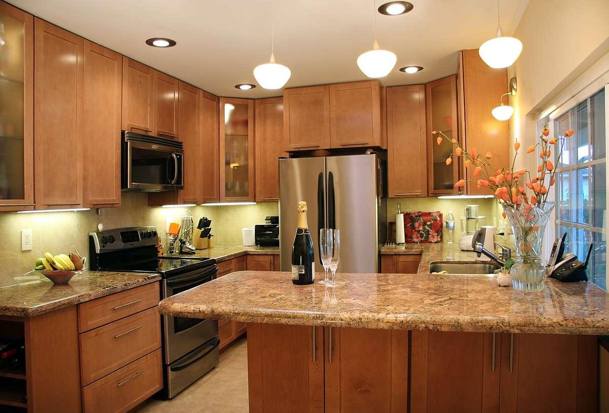 Варианты освещения кухни фото